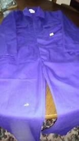 Childrens blue castle overalls