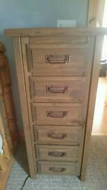 Mexican pine tallboy chest of drawers