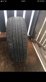 Honda Civic tyre and brand new jack