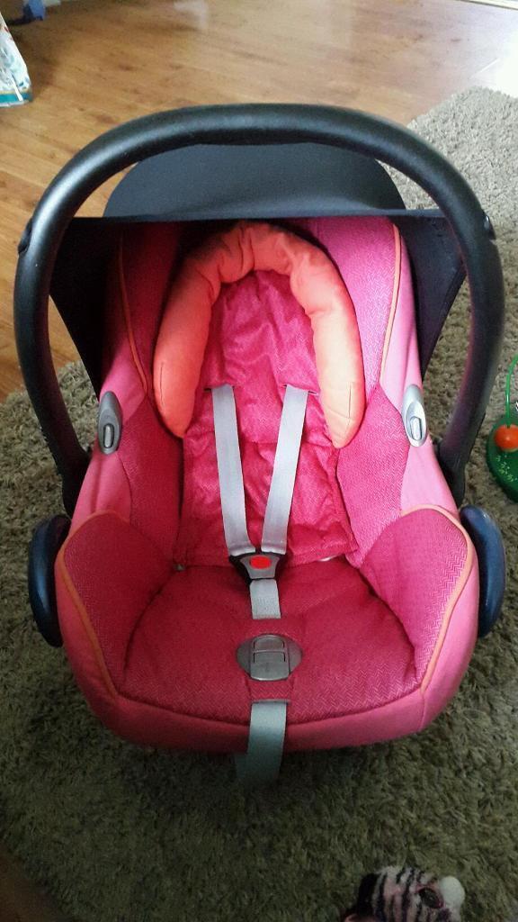 Pink Orange Maxi Cosi Carseat