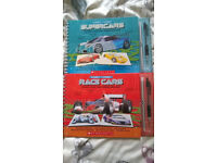 2 design it yourself book, supercars and race cars by Scholastic