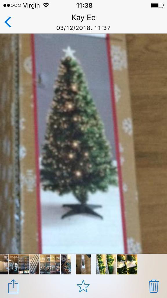 240f142b8c1c3 Fibre Optic 5 Foot Christmas Xmas Tree - White Lights - New