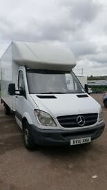 Mercedes Sprinter LWB luton van with tail lift