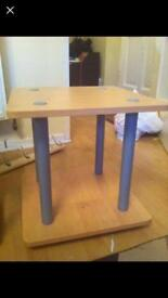 Side/end table beech effect