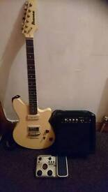 Ibanez CMM1-IV Chris miller signature series, Zoom G1XN effects pedal and 20w Practice Amp Package