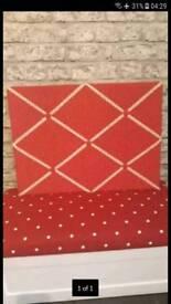 Red and White Polka Dot Pin Board