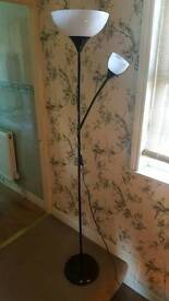 Two Ikea floor standing lamps