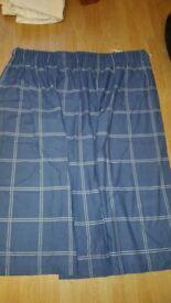 Blue Crossed Curtains