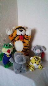 Assortment of 5 soft toy animals