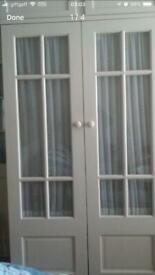 Two solid doors