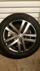 VW Atlanta alloy wheel and tyre for Golf, Touran, Jetta