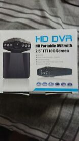 Hd portable dvr with 2.5 inch tft lcd screen (dash cam)new in box never used