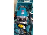 One of several 110v power tools for sale. Makita Router 3612c. 1850w. £175. Extras. Very little use