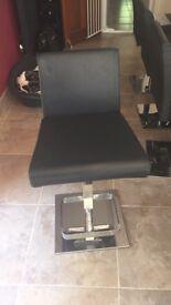 Leather bar stools x 4