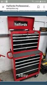 New Halfords Professional Roll Cab + top box too cabinet chest