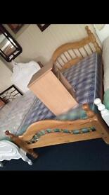 Solid pine bed new special offer
