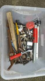 Used mix box of hand tools