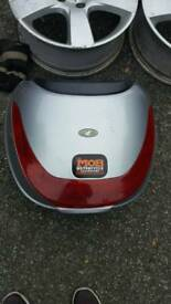 Scooter rear luggage top box motorcycle