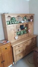 Genuine Antique Pine Welsh Dresser - 5 foot long - Beautiful - Over 100 yrs old - Kitchen/Dining Rm