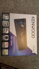 Brand new. Kenwood radio and Fli triaxial speakers