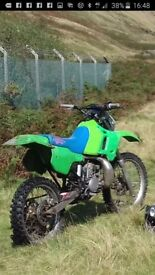 1994 kdx200 with v5 FULL RUNNING BIKE BREAKING