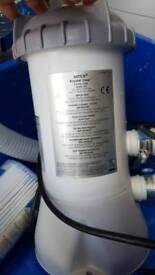 Intex krystal clear pump for paddling pool
