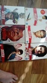Dexter dvd box sets 1 to 6, complete series
