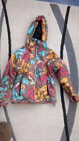 Girls Roxy Waterproof Winter Coat Age 10