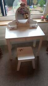 ELC Wooden Dressing Table & Stool