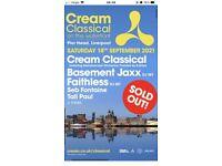 Cream Classic Saturday 18th Sept
