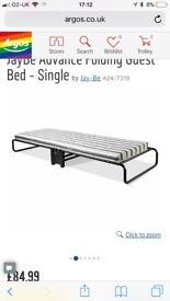 Single folding guest bed