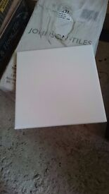 White Johnston Ceramic Wall Tiles