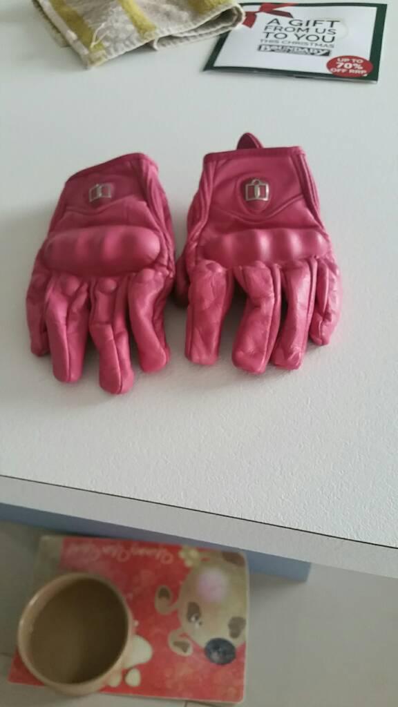 Ladies motorbike glove. Medium