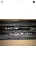 Immaculate Kingfisher 2 12ft 3 piece Carp Fishing Rod