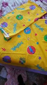 Set of Tweenies curtains with single duvet cover