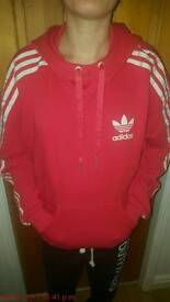 Red Adidas Hoody in size xs Unisex