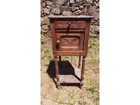 Vintage Retro French Bedside Table Cabinet - Chest Of Drawers Art Deco (7)