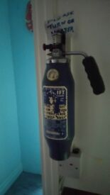 Retro mini fire extinguisher blue rare