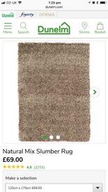 Natural mix slumber rug