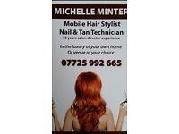 Michelles Mobile hairdressing service 17 years salon director experience highly qualified