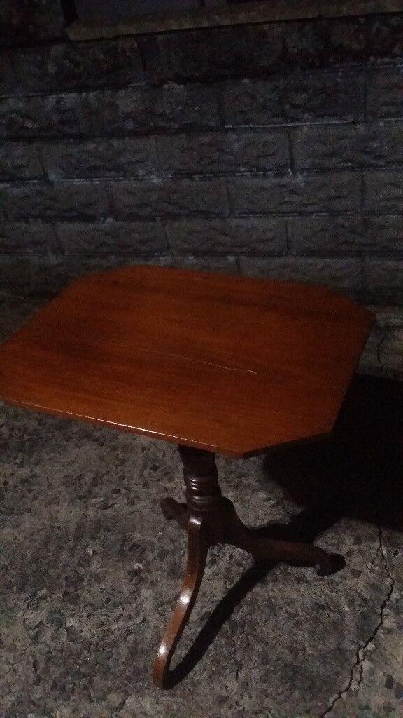 Mahogany wood occasional table