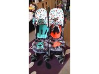 Cosatto cuddle monsters double stroller