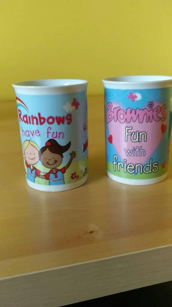 Rainbows/Brownies mugs