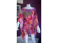 Multicoloured Multiprint NEW Dress/Tunic - sized medium