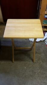 foldable wooden tables x2
