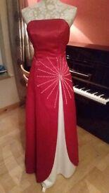 stunning red evening dress size 8/10
