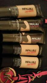 L'oreal infallible matte foundations
