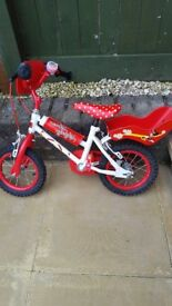 12 inch minnie mouse bike