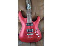 Schecter C-1 Lady Luck Electric Guitar with Fender gig bag.