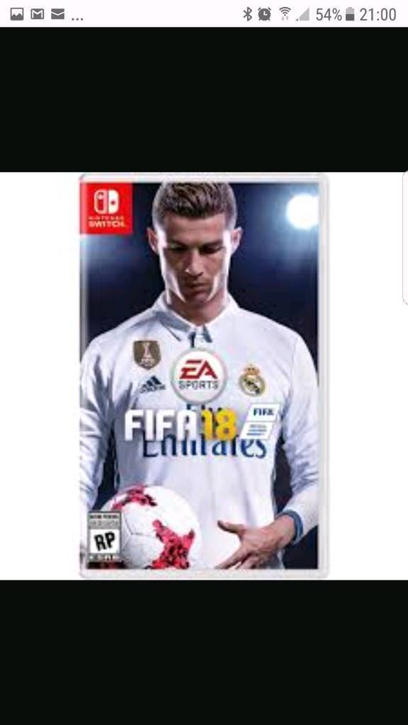 Nintendo switch fifa18 game
